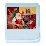 Santas Airedale baby blanket