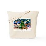 XmasMagic/Airedale Tote Bag