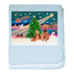 XmasMagic/Airedale baby blanket