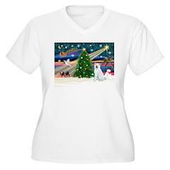 Xmas Magic & Akita T-Shirt