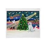 Xmas Magic & Akita Throw Blanket