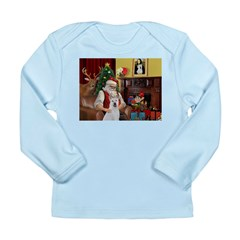 Santa & Akita Long Sleeve Infant T-Shirt