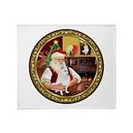 Santa's Am Eskimo #5 Throw Blanket