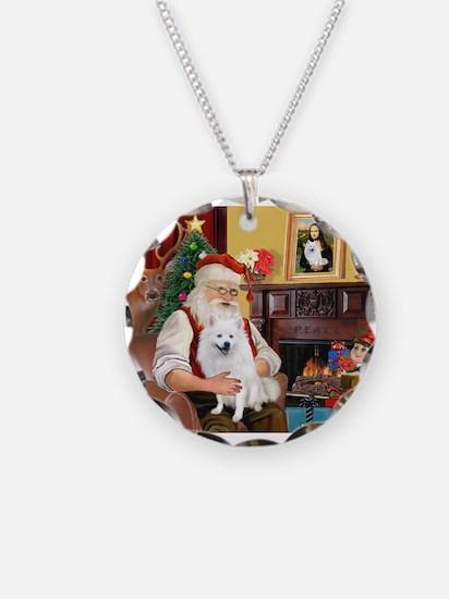 Santa's Eskimo Spitz Necklace