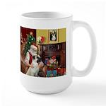 Santa/Anatolian Shep Large Mug