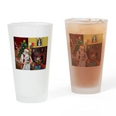 Santa & Anatolian Drinking Glass
