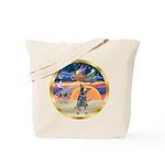 XmasStar/Cattle Dog Tote Bag