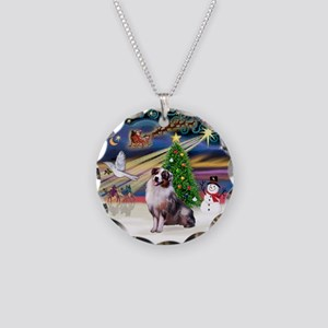 XmasMagic/Aussie (#1) Necklace Circle Charm