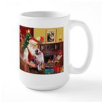 Santa's Aussie (#1) Large Mug