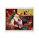 Santa's Aussie (#1) Throw Blanket