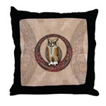 Celtic Owl Throw Pillow