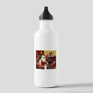 Santa's Tri Aussie (#7) Stainless Water Bottle 1.0