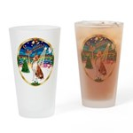 XmasMusic 3/Basenji Drinking Glass