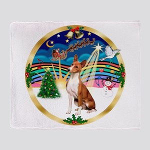 XmasMusic 3/Basenji Throw Blanket