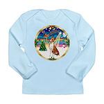 XmasMusic 3/Basenji Long Sleeve Infant T-Shirt