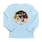 XmasDove/Basenji #2 Long Sleeve Infant T-Shirt