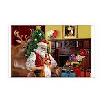 Santa's Basenji (#2) 22x14 Wall Peel