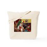 Santa's Basenji (#2) Tote Bag