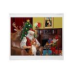Santa's Basenji (#2) Throw Blanket