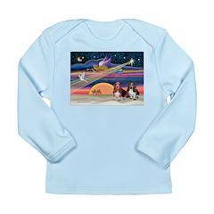 Xmas Star & 2 Bassets Long Sleeve Infant T-Shirt