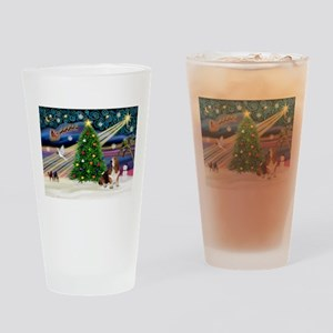 Xmas Magic - Basset Drinking Glass