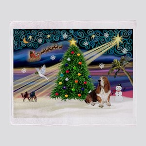 Xmas Magic - Basset Throw Blanket