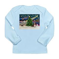Xmas Magic - Basset Long Sleeve Infant T-Shirt