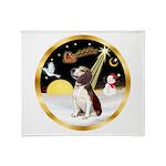 Night Flight/Beagle #2 Throw Blanket