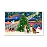 Xmas Magic & Beagle pair 22x14 Wall Peel