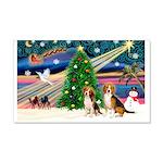 Xmas Magic & Beagle pair 22x14 Wall Peel