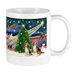 Xmas Magic & Beagle pair Mug