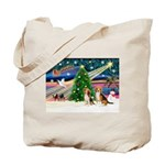 Xmas Magic & Beagle pair Tote Bag