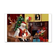 Santa's Beagle 22x14 Wall Peel