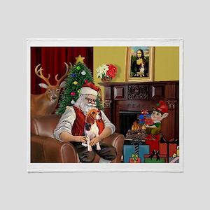 Santa's Beagle Throw Blanket
