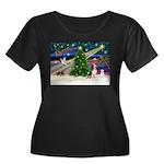 Xmas Magic & Beagle Women's Plus Size Scoop Neck D