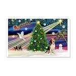 Xmas Magic & Beagle 22x14 Wall Peel