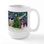Xmas Magic & Beagle Large Mug