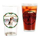 XmasMusic1MC/ Beagle Drinking Glass