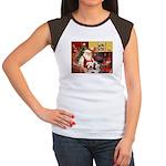 Santa's Beardie pair Women's Cap Sleeve T-Shirt