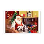 Santa's Beardie pair 22x14 Wall Peel