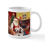 Santa's Beardie pair Mug