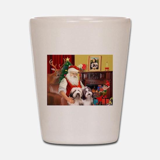 Santa's Beardie pair Shot Glass