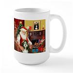 Santa's Bearded Collie Large Mug