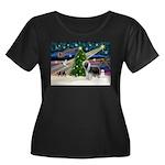 Xmas Magic & Beardie Women's Plus Size Scoop Neck