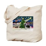 Xmas Magic & Beardie Tote Bag