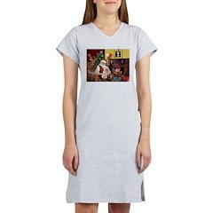 Santa's Bedlington Women's Nightshirt