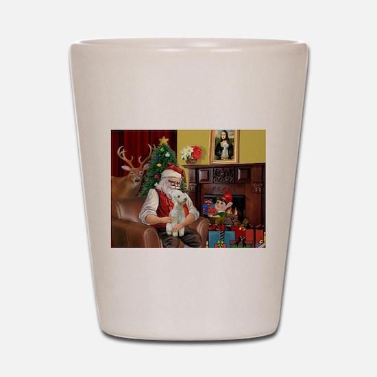 Santa's Bedlington Shot Glass