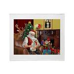 Santa's Bedlington Throw Blanket