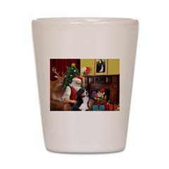 Santa's Home & Bernese Shot Glass