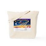 XmasSunrise/Bichon #2 Tote Bag